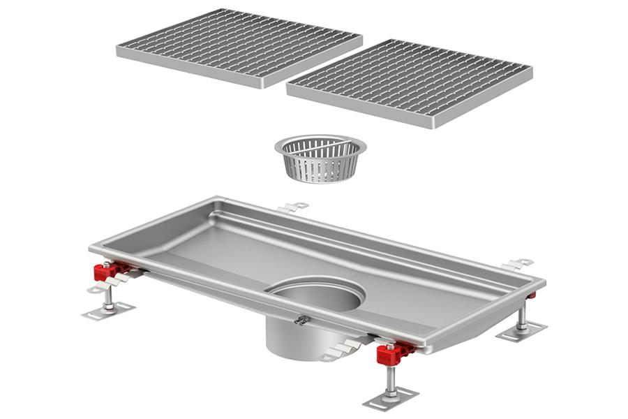 Canal de inox para drenagem em cozinha, industria